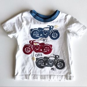 Gymboree Baby Motorcycle Embroidered Shirt 6-12 m